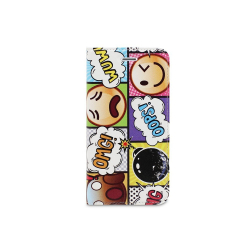 Housse portefeuille iPhone X YKO - Etui de protection porte-cartes - EMOPOP