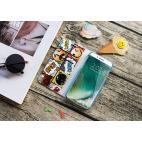 Housse portefeuille iPhone X YKO - Etui de protection porte-cartes - EMOPOP