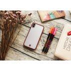 Coque iPhone X DYP - ultra mince et ultra légère – protection anti-choc - transparente - rose métallique