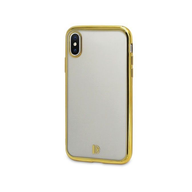 Coque iPhone X DYP - ultra mince et ultra légère – protection anti-choc - transparente - or