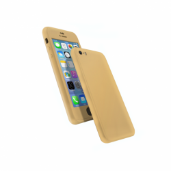 Coque 360 en Rubber pour iPhone 5/5s/SE Or