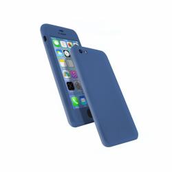 Coque 360 en Rubber pour iPhone 6/6s Bleu