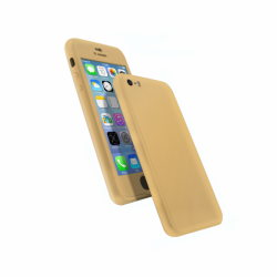 Coque 360 en Rubber pour iPhone 6/6s Or