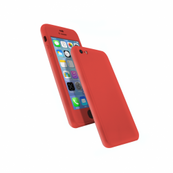 Coque 360 en Rubber pour iPhone 6/6s Rouge