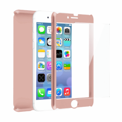 Coque 360 en Rubber pour iPhone 6/6s Rose Gold
