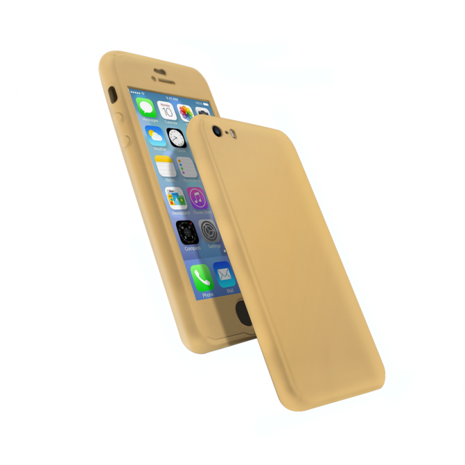 Coque 360 en Rubber pour iPhone 6+/6s+ Or