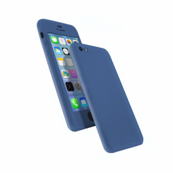 Coque 360 en Rubber pour iPhone 6+/6s+ Bleu
