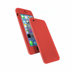 Coque 360 en Rubber pour iPhone 6+/6s+ Rouge