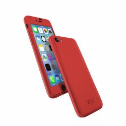 Coque 360 en Rubber pour iPhone 7 Rouge
