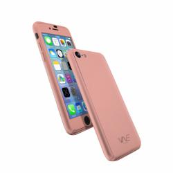 Coque 360 en Rubber pour iPhone 7 Rose Gold