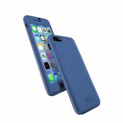 Coque 360 en Rubber pour iPhone 7+ Bleu