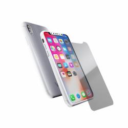 Coque 360 en Rubber pour iPhone X Argent