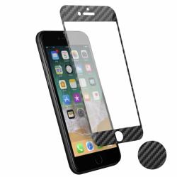 Protection d'écran 3D iPhone 6/6s en fibre de carbone Soft carbone
