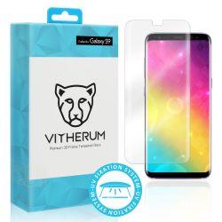 Vitherum Aqua Verre trempé transparent incurvé 3D de qualité supérieure (fixation UV) Galaxy S9