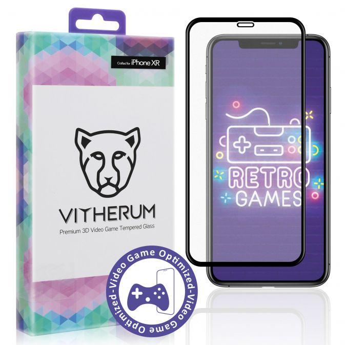 Vitherum Opal Verre trempé VideoGame 3D incurvé de qualité supérieure iPhone XR
