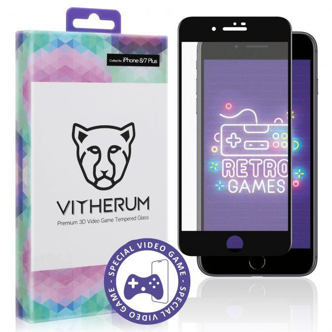 Vitherum Opal Verre trempé VideoGame 3D incurvé de qualité supérieure iPhone 8 + / 7 +