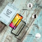 Vitherum Silver Premium Glass Pack (Verre trempé incurvé à l'avant + Etui en verre magnétique) iPhone X / XS Noir