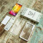 Vitherum Silver Premium Glass Pack (Verre trempé incurvé à l'avant + Etui en verre magnétique) iPhone XS Max Argent