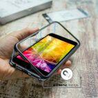 Vitherum Silver Premium Glass Pack (Verre trempé incurvé à l'avant + Etui en verre magnétique) iPhone 6 / 6S Noir