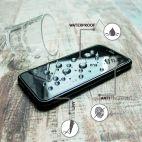 Vitherum Silver Premium Glass Pack (Verre trempé incurvé à l'avant + Etui en verre magnétique) iPhone 6 + / 6S + Noir
