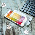 Vitherum Silver Premium Glass Pack (Verre trempé incurvé à l'avant + Etui en verre magnétique) iPhone 6 + / 6S + Argent
