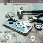 Vitherum Silver Premium Glass Pack (Verre trempé incurvé à l'avant + Etui en verre magnétique) iPhone X / XS Argent
