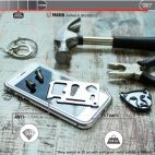 Vitherum Silver Premium Glass Pack (Verre trempé incurvé à l'avant + Etui en verre magnétique) iPhone 8/7 Argent