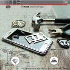 Vitherum Silver Premium Glass Pack (Verre trempé incurvé à l'avant + Etui en verre magnétique) iPhone 6 / 6S Argent