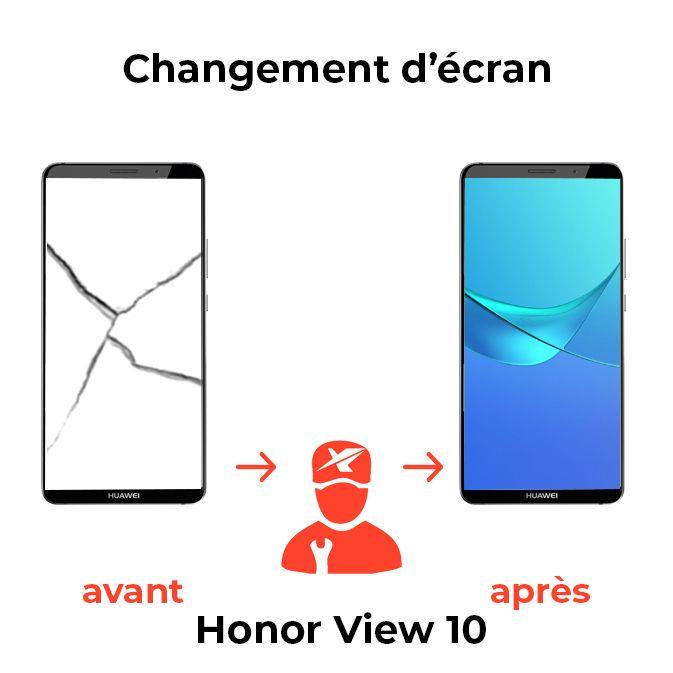 Changement d'écran Honor View 10