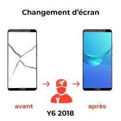 Changement d'écran Huawei Y6 2018