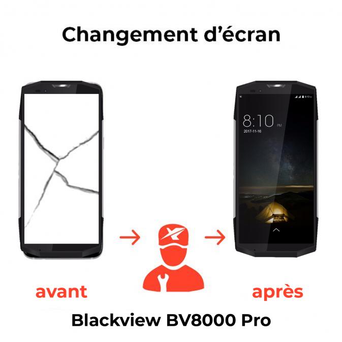 Remplacement écran Blackview BV8000 Pro