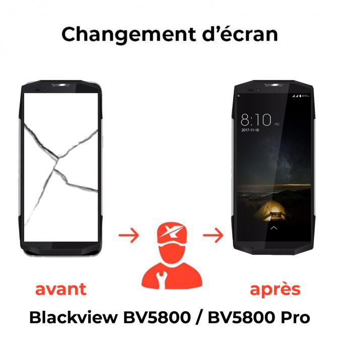 Remplacement écran Blackview BV5800 / BV5800 Pro