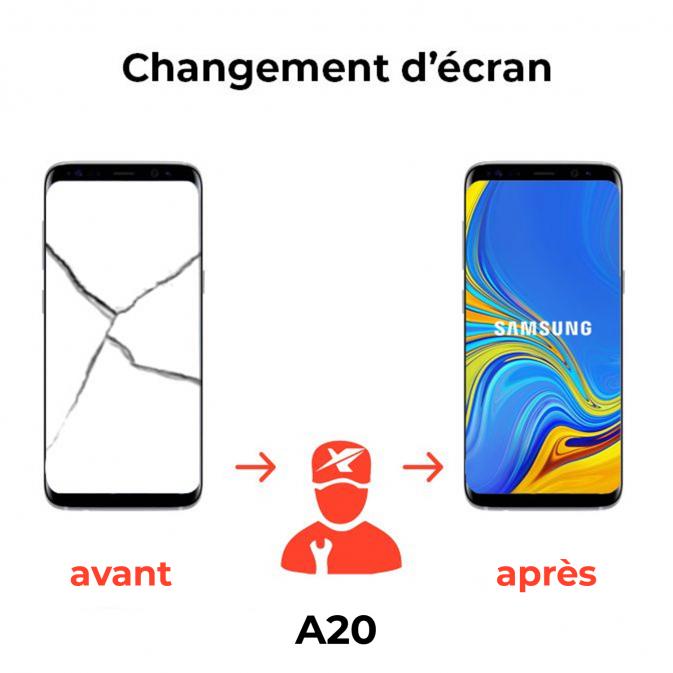 Réparation écran Samsung A20
