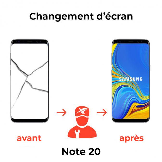 Réparation écran Samsung Note 20