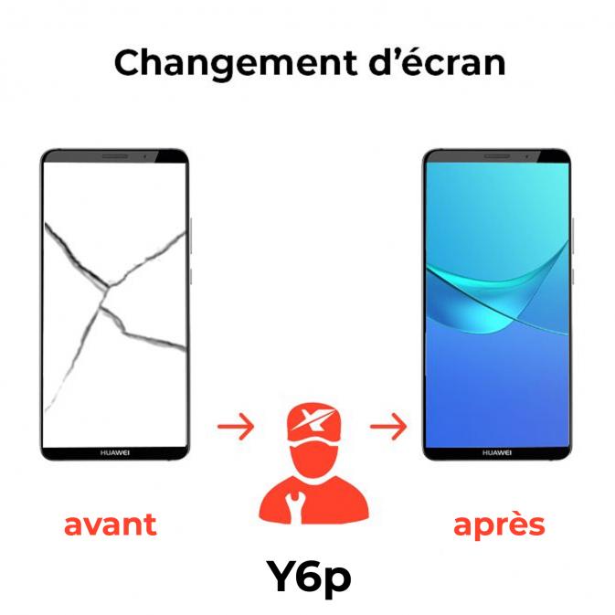 Réparation écran Huawei Y6p