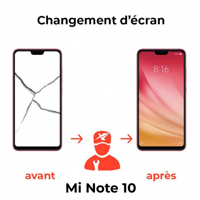 Réparation écran Xiaomi Mi Note 10
