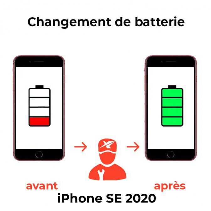 Remplacement Batterie iPhone SE 2020