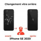 remplacement vitre arrière iPhone SE 2020