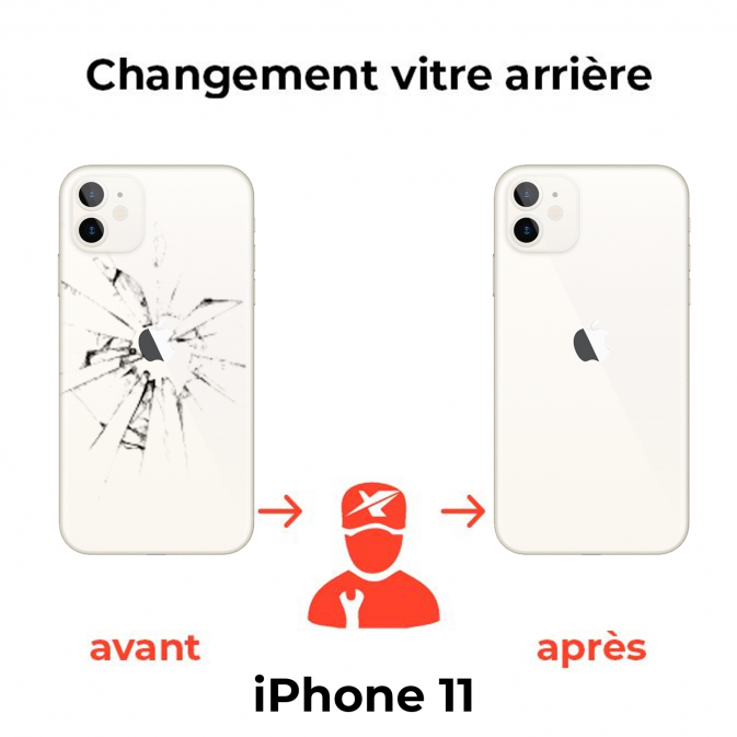 Remplacement Vitre Arrière iPhone 11