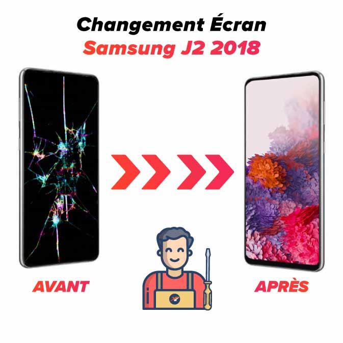 Réparation écran Samsung J2 2018