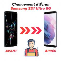 Réparation Ecran Samsung S21 Ultra 5G
