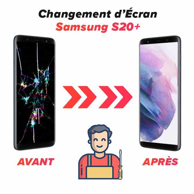 Réparation écran Samsung S20+
