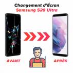 Réparation écran Samsung S20 Ultra