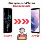 Réparation écran Samsung S20