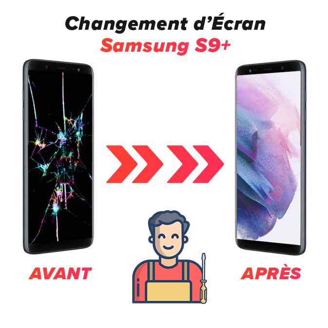 Changement d'écran Galaxy S9 Plus