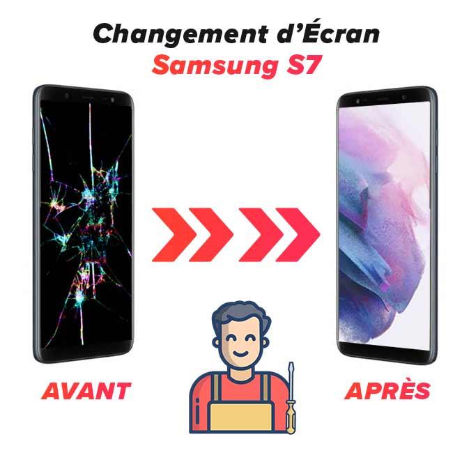 Changement d'écran Galaxy S7