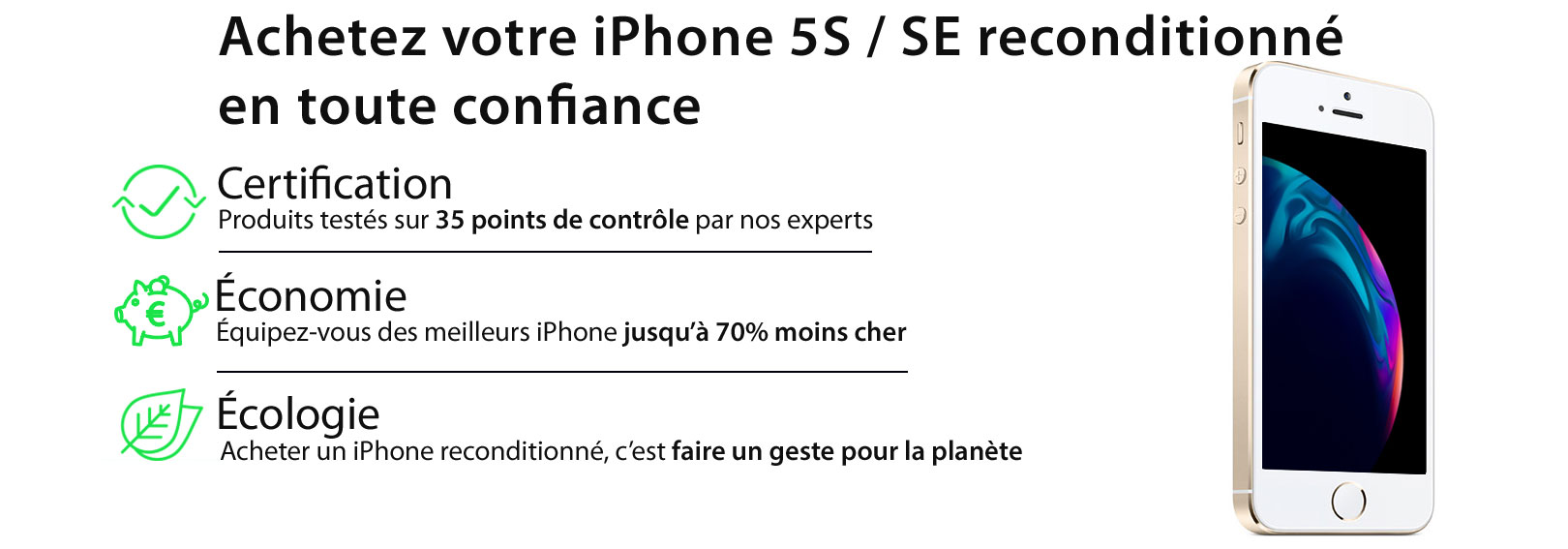 iPhone SE recondtionné