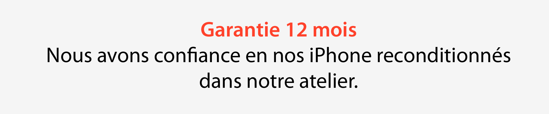 garantie 12 mois iPhone SE recondtionné