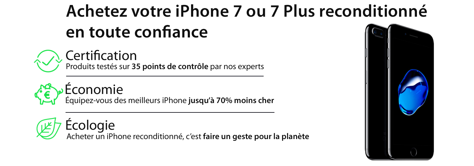 iphone 7 & iphone 7 plus reconditionné