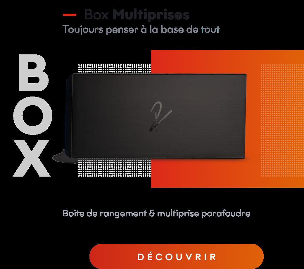 Box multiprise cable management